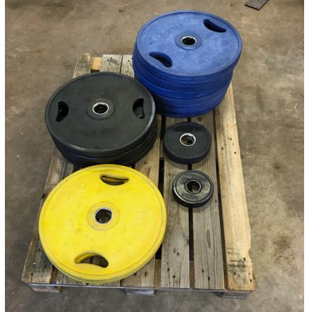 Int. viktskivor totalt 187,5 kg, Gymtec