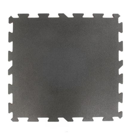 Gummigolv pussel 30mm, svart 1x1m